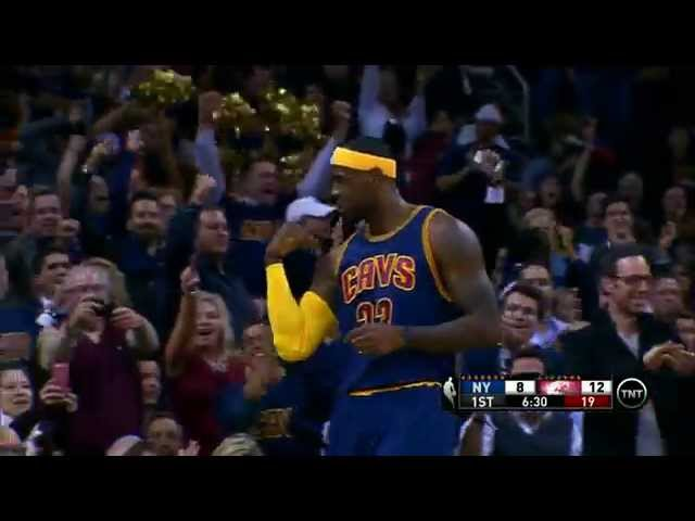 Welcome Home!! Lebron Flexes His Muscles for the And-1