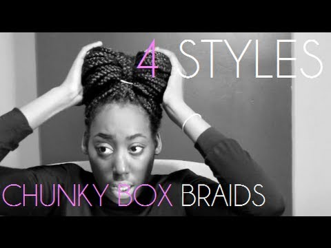 STYLES HOW I STYLE MY CHUNKY BOX BRAIDS