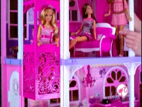 2009 Barbie Pink World 3 Story Dream Townhouse Commercial video