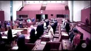 Senator Richard Di Natale debates Senator Cory Bernardi about the Lord's Prayer