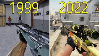 Evolution of Counter Strike 1999-2018