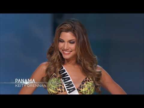 Señorita Panamá Keity Drennan en la Preliminar de Miss Universo