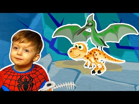 Детям про Динозавров Приключения ТИРЕКСА Сборник Все Серии Подряд Мультик  для Детей Lion Boy