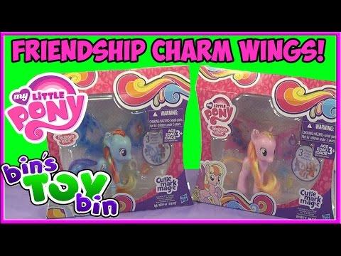 My Little Pony Rainbow Dash & Honey Rays Cutie Mark Magic Charm Wings! Review by Bin's Toy Bin