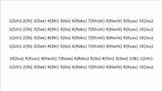 """Numbers from 1 to 10 in Japanese: Ichi Ni San Shi Go Roku Shichi Hachi Kyuu Juu""(Slow Version)"