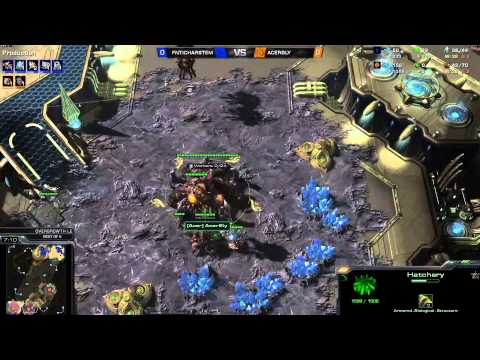 ZvP - Bly vs Harstem -1g- Starcraft 2 HD polski komentarz Heart of the Swarm