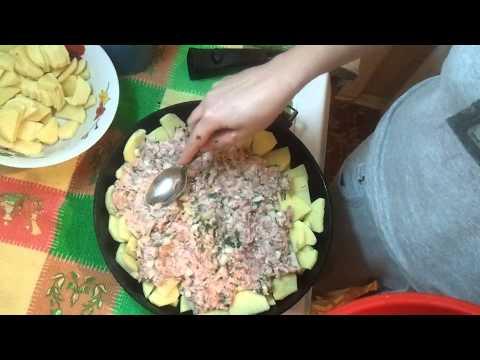 Как приготовить картошку с фаршем - видео