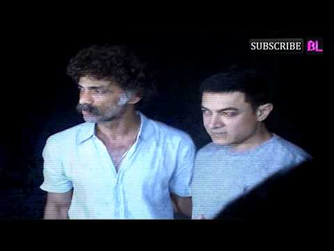 Aamir Khan attends the screening of Marathi film Saturday Sunday...