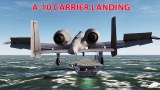 [DCS] Máy bay A-10A Hạ cánh xuống Tàu sân bay (A-10 CARRIER LANDING).