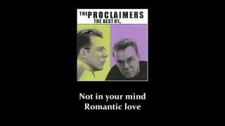 Watch Proclaimers When Youre In Love video