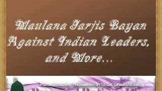 Moulana Jarjis Bayan Against Indian Leaders & More :: Must Listen Full ::