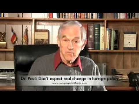 Ron Paul on Obama's Foreign Policy 01-25-09