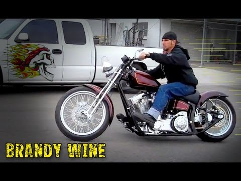 "Sweet Chopper ""Brandy Wine"" Custom Motorcycle Test Driven - Road Rage Performance Choppers"