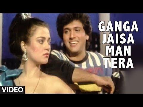 Ganga Jaisa Man Tera Full Song | Jungbaaz | Govinda Mandakini...