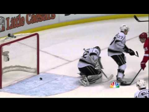 Jonathan Ericsson goal Feb 10 2013 LA Kings vs Detroit Red Wings NHL Hockey