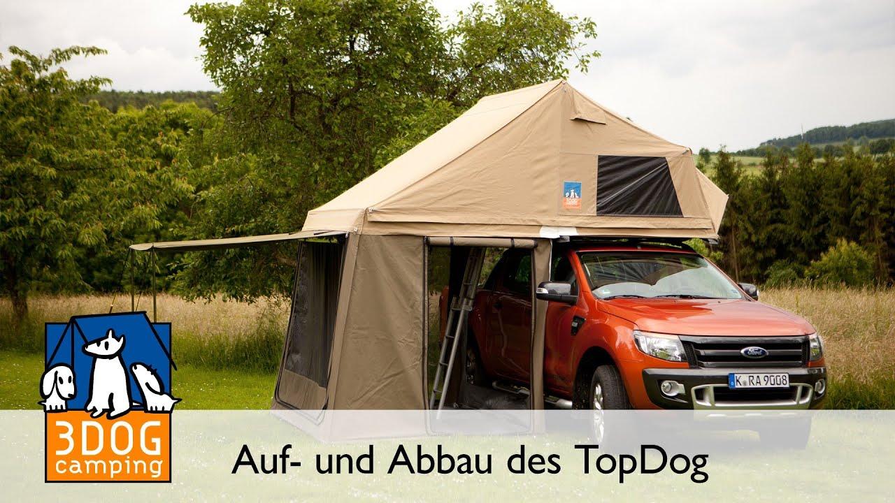 3dog camping aufbau und abbau dachzelt topdog youtube. Black Bedroom Furniture Sets. Home Design Ideas