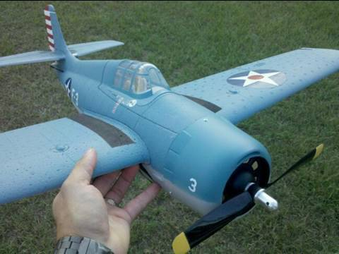 Parkzone F4F Wildcat Unboxing and Maiden Flight