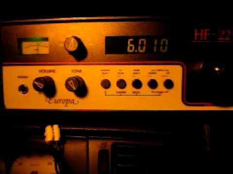 Belaruskaje Radyjo 6010 kHz playing National Anthem (received in Germany)