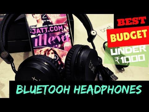 Best budget wireless headphones under Rs.1000 | boAt rockerz 400 on-ear bluetooth HD Headphones 2017