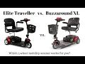 Buzzaround XL vs Elite Traveller 3 Wheel Scooter