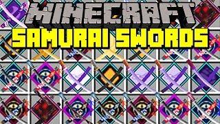 Minecraft SAMURAI SWORDS MOD! | CRAFT NEW SAMURAI SWORDS WITH ABILITIES & MORE! | Modded Mini-Game