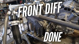 Seat Rails and Front Diff Mounted | AWD 4 Rotor Build