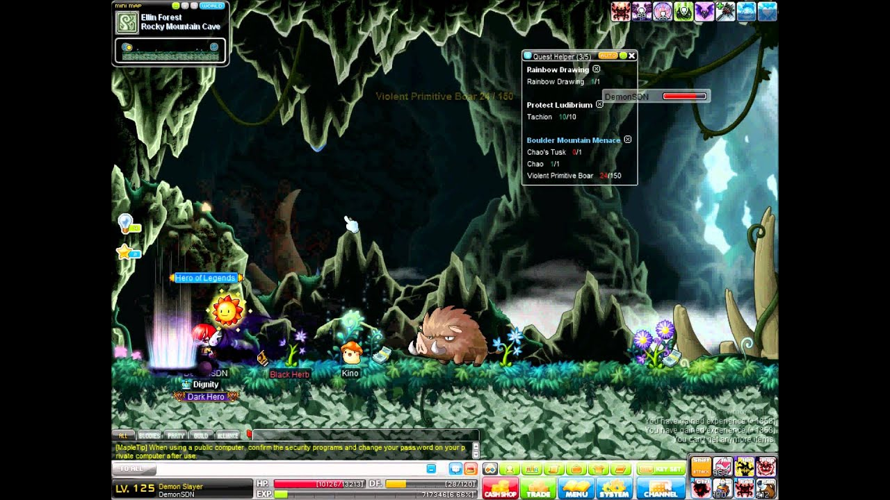 Forest Maplestory Maplestory Gms Ellin Forest
