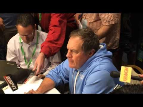 Patriots head coach Bill Belichick doesn't like microphones