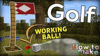 Minecraft: How to build a golf course and PLAY GOLF!