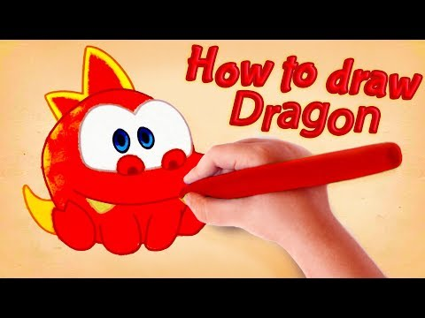 Om Nom Stories - How to draw Dragon - Cut The Rope - Kedoo ToonsTV