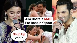 Varun Dhawan Reaction On Alia And Ranbir Zee Cine Awards Performance | Kalank Trailer Launch