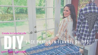 Add lace panels to flannel shirts & get the look for less!