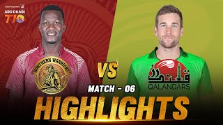 Northern Warriors vs Qalandars I Day 2 Match 6 I Aldar Properties Abu Dhabi T10