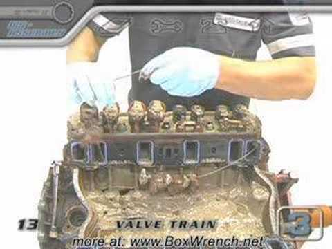 Cylinder Head Valve Train Teardown Video-Engine Building DVD