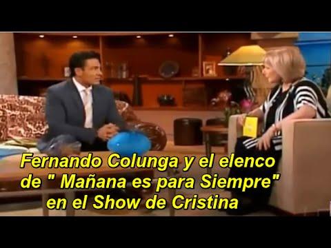 """Cristina Saralegui entrevista a Fernando Colunga , junto al elenco y el productor de la telenovela """" Mañana es para Siempre """", al otro día de la finalización de la novela . La entrevista..."""