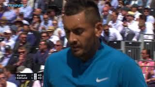 Djokovic Tops Dimitrov; Kyrgios Edges Edmund | Queen's 2018 Highlights Day 4