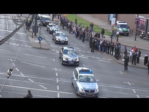 1000. Video: VIP-Eskorte Ministerpräsident Türkei Recep Tayyip Erdogan in Köln