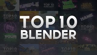 FREE TOP 10 ULTIMATE BLENDER Intro Templates DECEMBER 2016