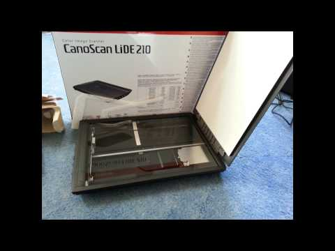 Canon Canoscan LIDE 210 Unboxing/Test (German)
