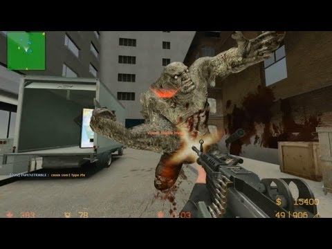 Counter Strike Source Zombie mod boss fight