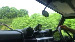 Land Rover Defender 90 SVX station wagon for sale in action