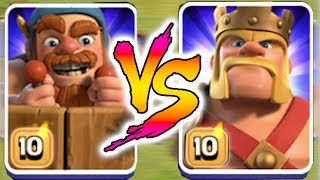 king vs battle machine!! | Clash Of Clans | who will win!?!