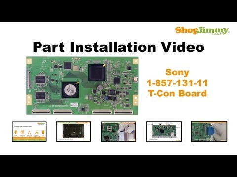 Sony TV Repair - How to Replace KDL-46WL14. KDL 46W4150 T-Con Board - How to Fix LCD TVs