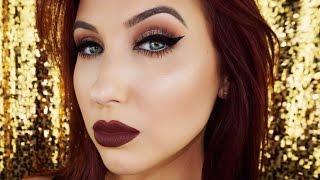Cat Eye & Vampy Lips   Fall Makeup Tutorial