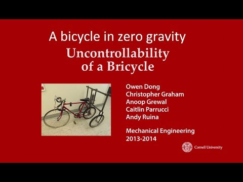 A bicycle in zero gravity is unrideable (The bricycle).