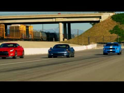 Drag Race! 2012 Nissan GT-R vs 2011 Chevy Corvette Z06 vs 2011 Shelby GT500 Music Videos