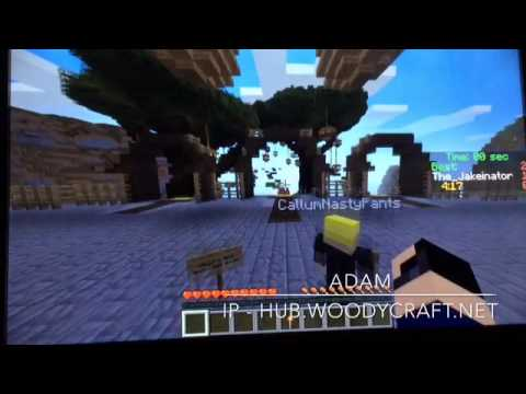Minecraft PC 1.8.1 ~ parkour #2 ~ server ip (hub.woodycraft.net)