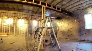 Framing Basement Time Lapse