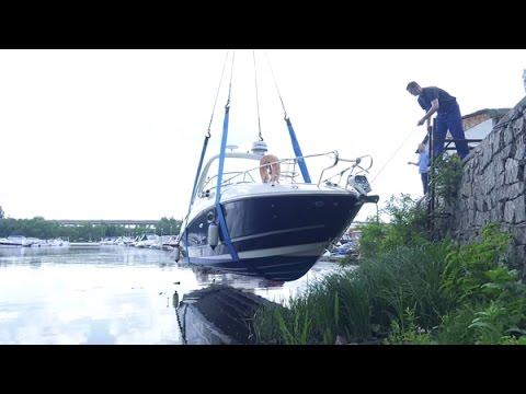Sea Ray Sundancer 280 - Прогулочный катер. Часть1. Знакомство и спуск на воду.