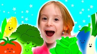 Learn Names of Vegetables and Fruits with Toys Educational Video for Kids